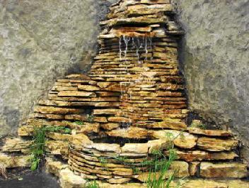 Искусственный водопад известняк